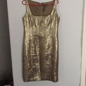 Ralph Lauren Metallic Gold Dress